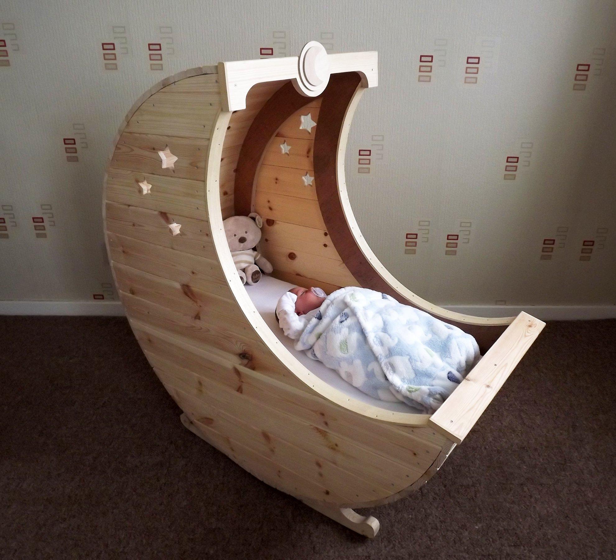 Tudor Carpentry Shrewsbury Moon Shaped Baby Crib / Cot